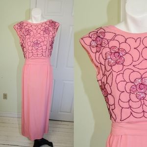 Pink Sequin Bombshell Suzy Perette Dress Gown
